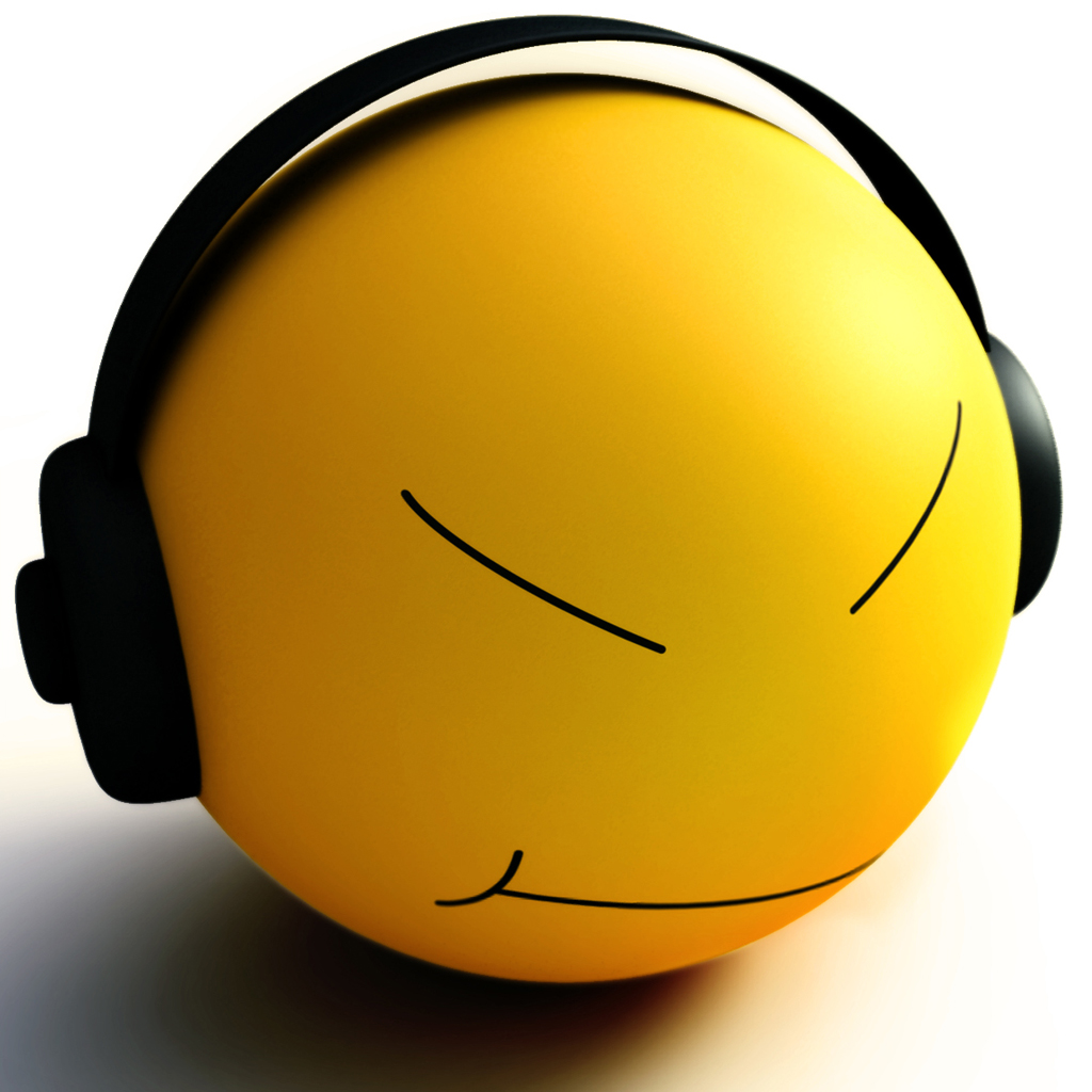 Smiley Headphone IPad Wallpaper, Background And Theme
