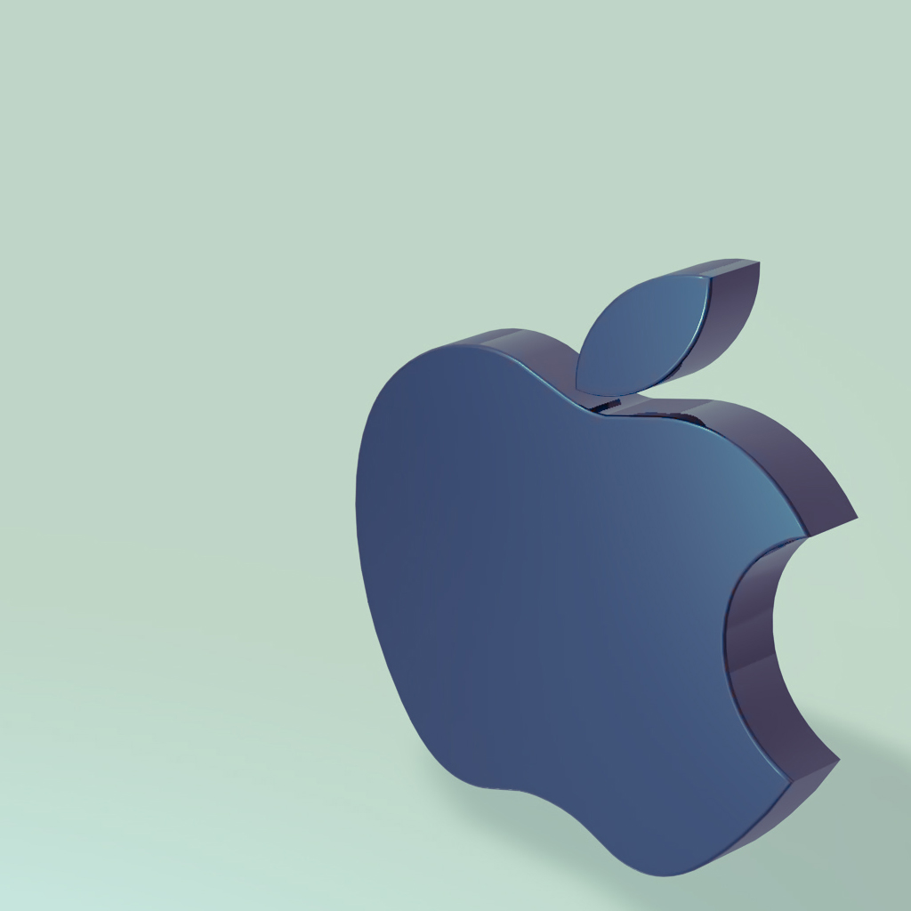 Apple Logo 3D iPad Wallpaper, Background and Theme