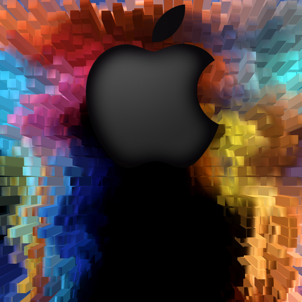 Apple 3D iPad Wallpaper, Background and Theme